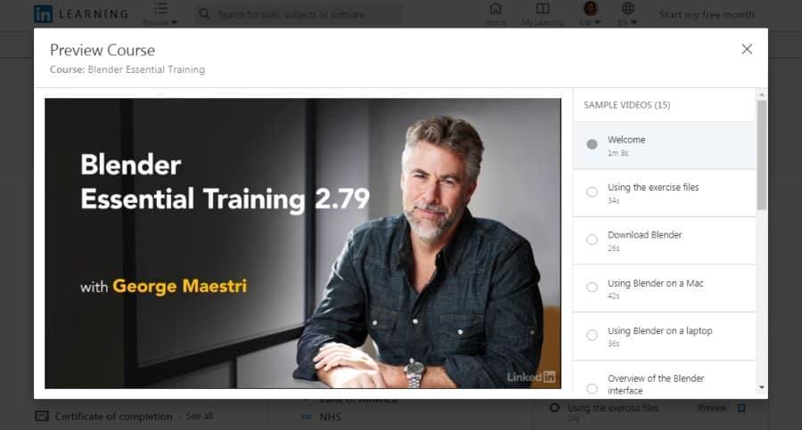 Blender Essential Training