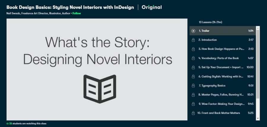 Book Design Basics: Styling Novel Interiors with InDesign