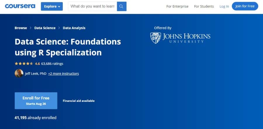 Data Science: Foundations using R - Specialization