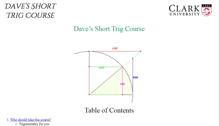 Dave's Short Trig Course