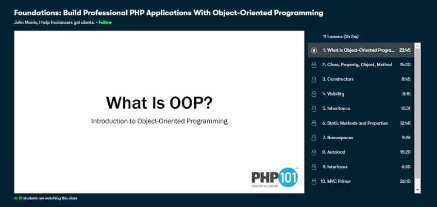 Foundations: Build Professional PHP Applications With Object-Oriented Programming