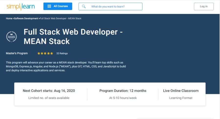 Full Stack Web Developer – MEAN Stack
