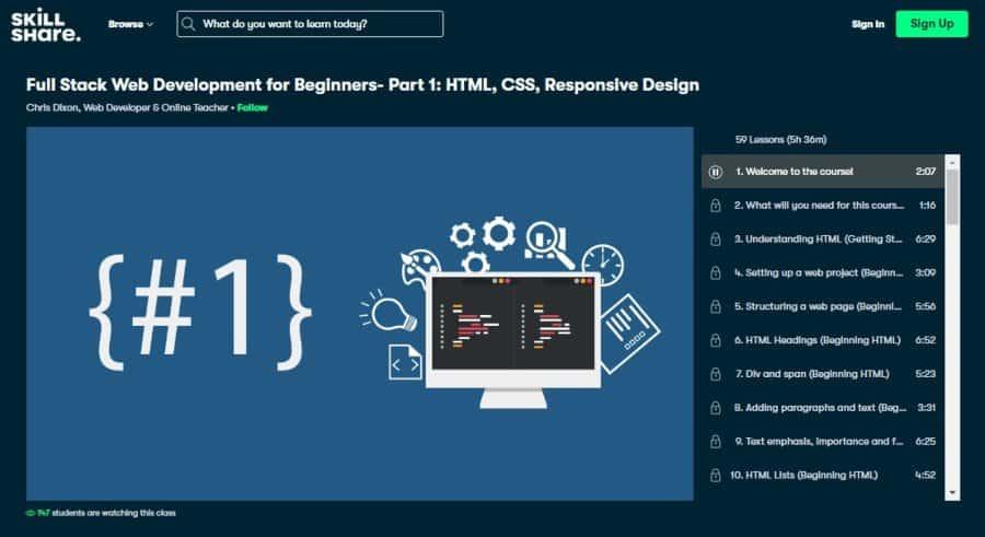 Full Stack Web Development for Beginners – Part 1: HTML, CSS, Responsive Design