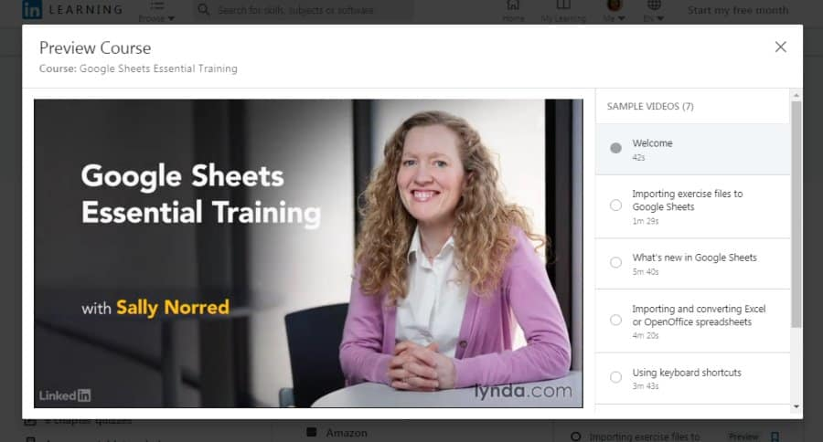 Google Sheets Essential Training