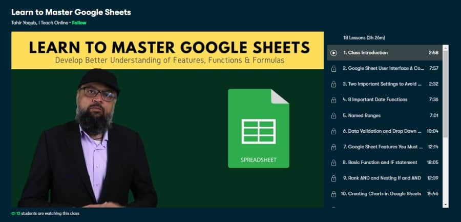 Learn to Master Google Sheets