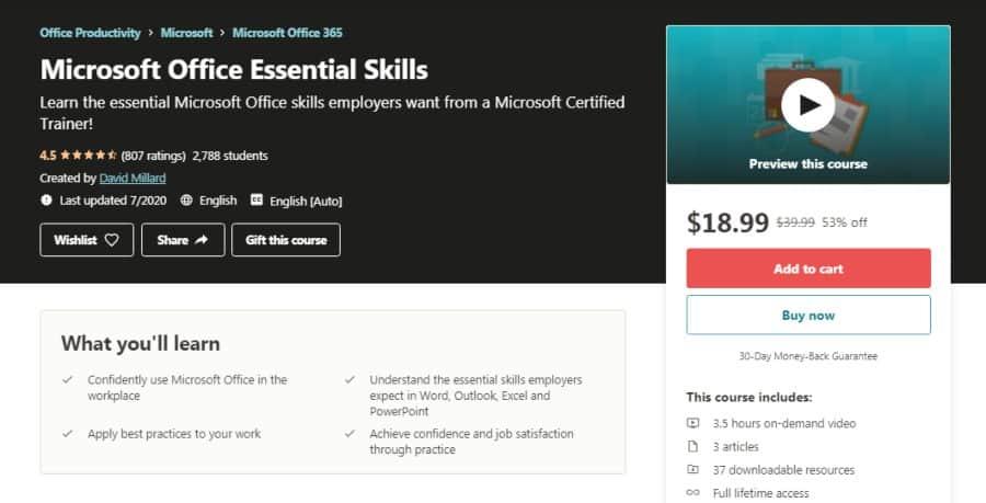 Microsoft Office Essential Skills