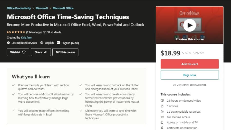 Microsoft Office Time-Saving Techniques