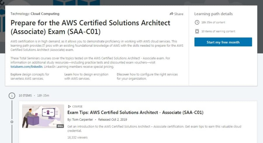 Prepare for the AWS Certified Solutions Architect (Associate) Exam SAA-C01
