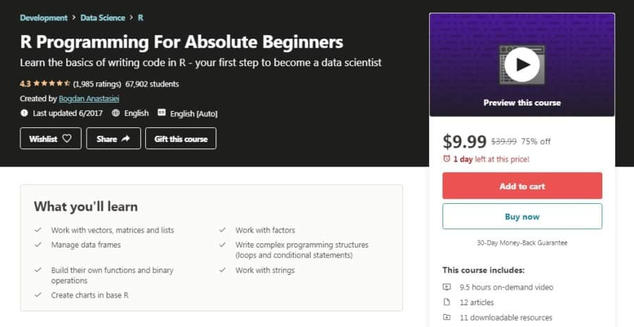 R Programming for Absolute Beginners