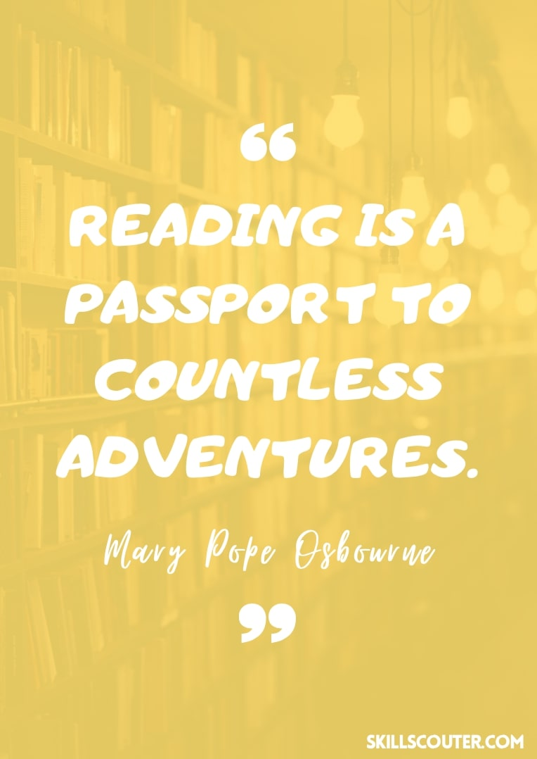 Reading is a passport to countless adventures - Mary Pope Osbourne