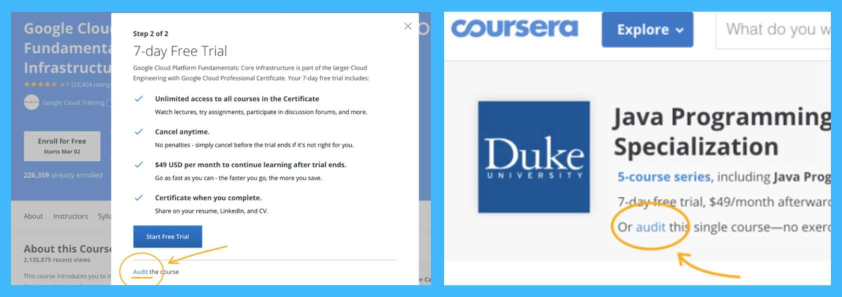 audit this course coursera