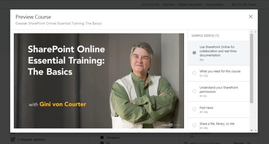 SharePoint Online Essential Training: The Basics