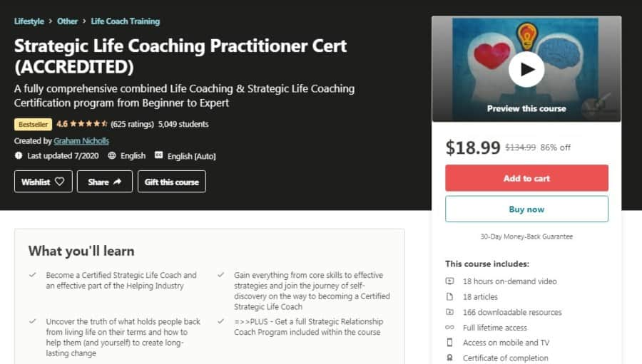 Strategic Life Coaching Practitioner Cert (ACCREDITED)