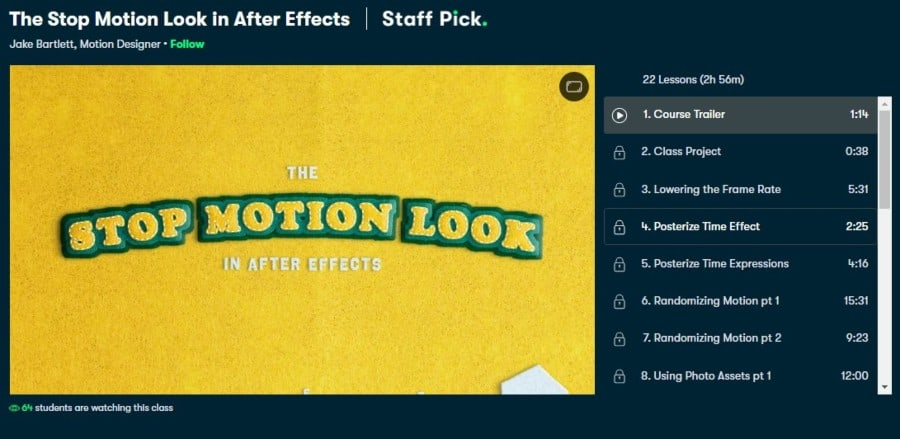 The Stop Motion Look in After Effects