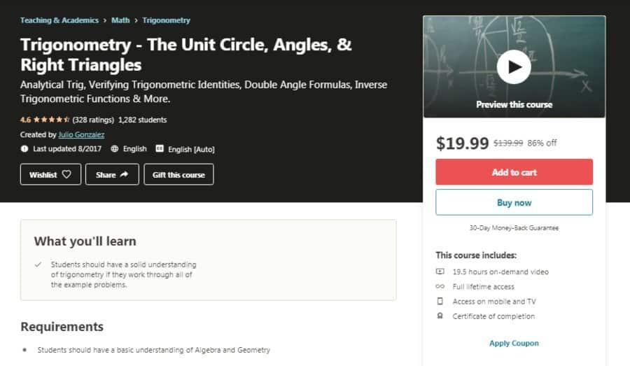 Trigonometry- The Unit Circle, Angles & Right Triangles