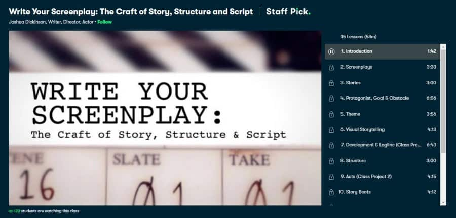 Write Your Screenplay: The Craft of Story, Structure, and Script