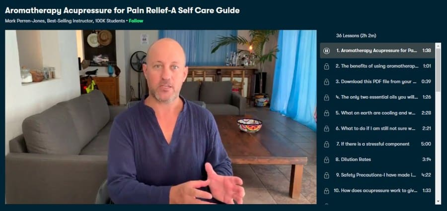 Aromatherapy Acupressure for Pain Relief-A Self Care Guide