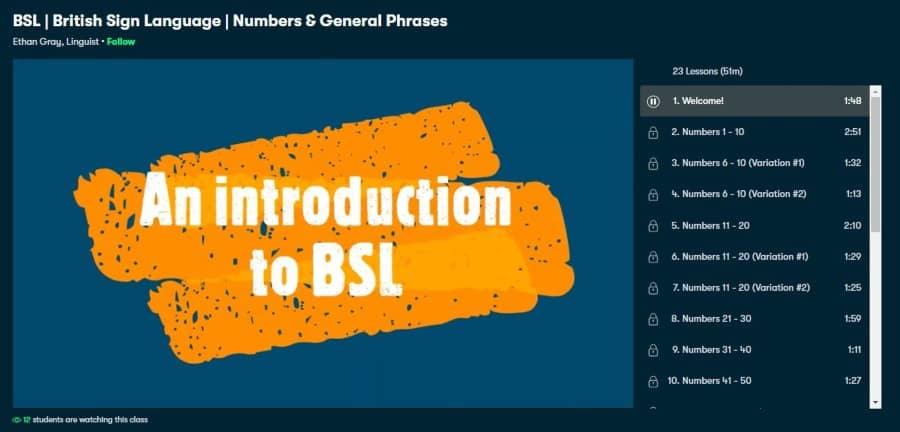BSL: British Sign Language: Numbers & General Phrases