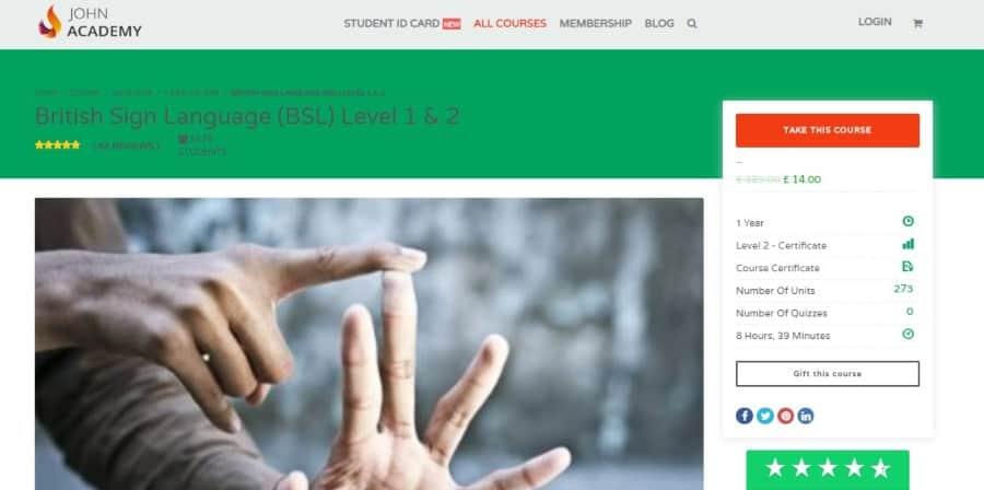 British Sign Language (BSL) Level 1 & 2