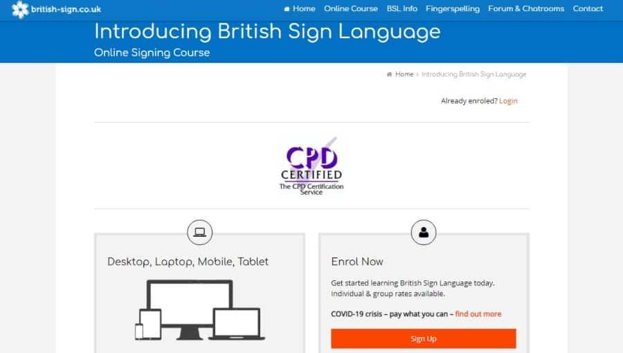 Introducing British Sign Language