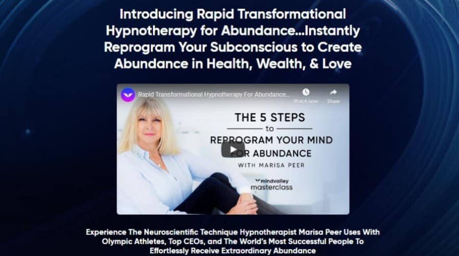 Introducing Rapid Transformational Hypnotherapy for Abundance