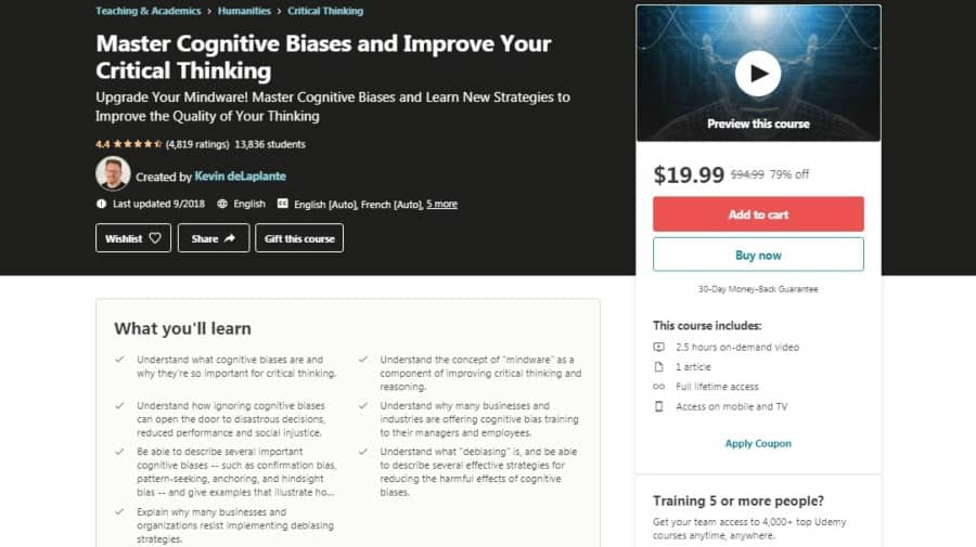 Master Cognitive Biases and Improve Your Critical Thinking