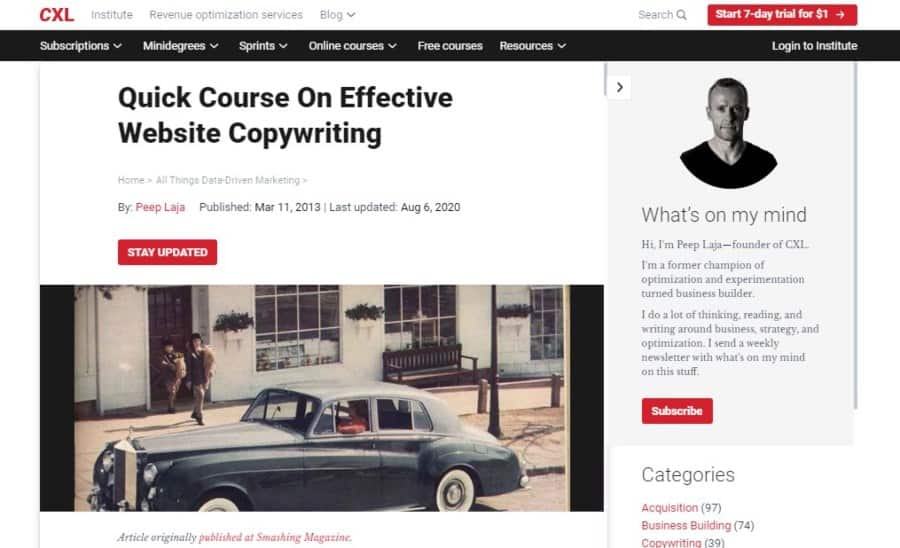 Quick Course On Effective Website Copywriting