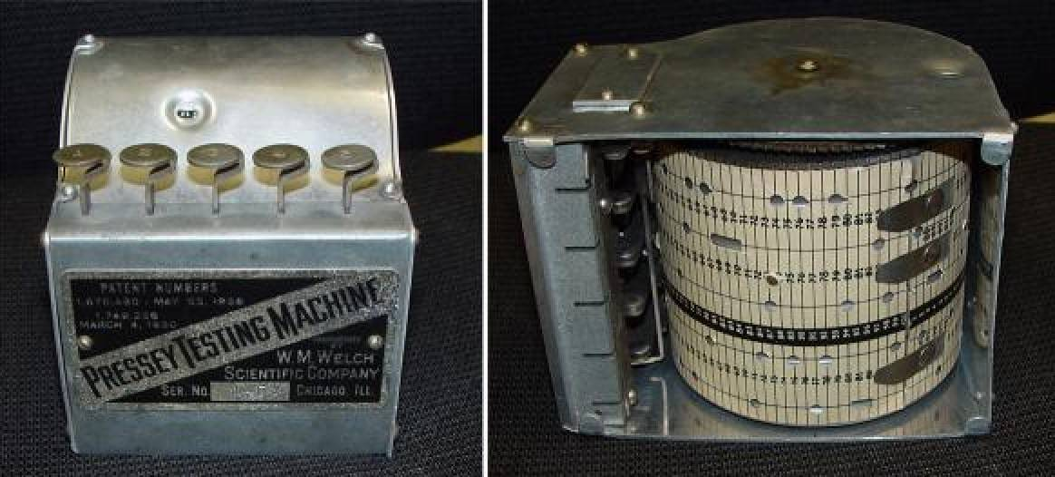 1924: Sidney L. Pressey makes the first teaching machine