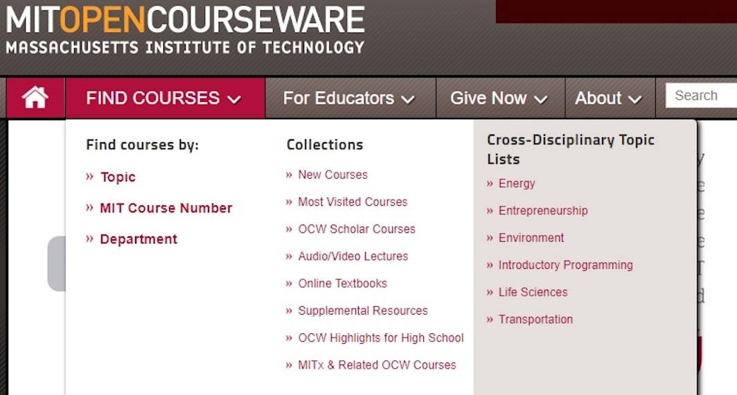 2001: MIT launches its OpenCourseWare project