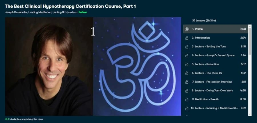 The Best Clinical Hypnotherapy Certification Course, Part 1