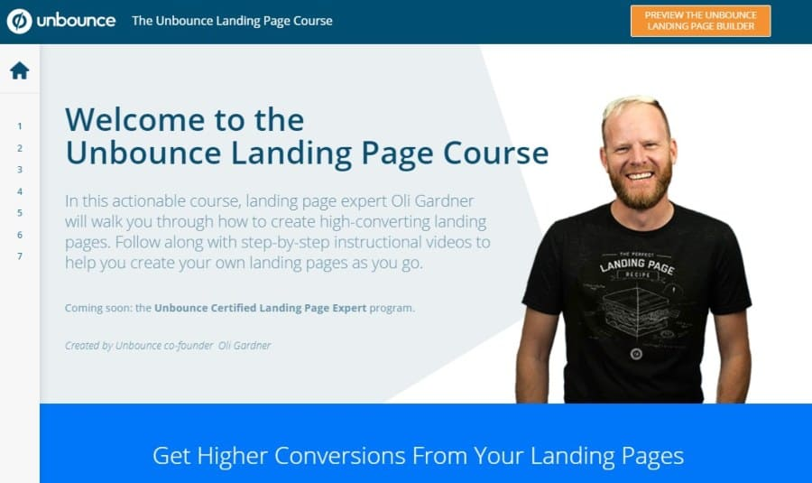 The Unbounce Landing Page Course