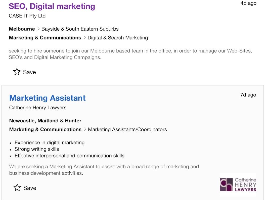 wordpress on job listings