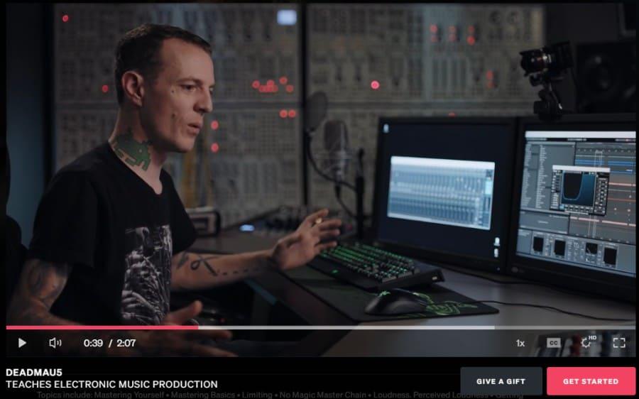1. Deadmau5 Teaches Electronic Music Production (MasterClass)