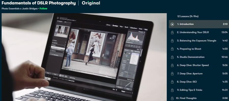1. Fundamentals of DSLR Photography (Skillshare)