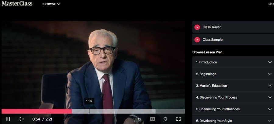 1. Martin Scorsese Teaches Filmmaking (MasterClass)