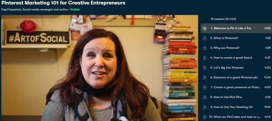 1. Pinterest Marketing 101 for Creative Entrepreneurs (Skillshare)