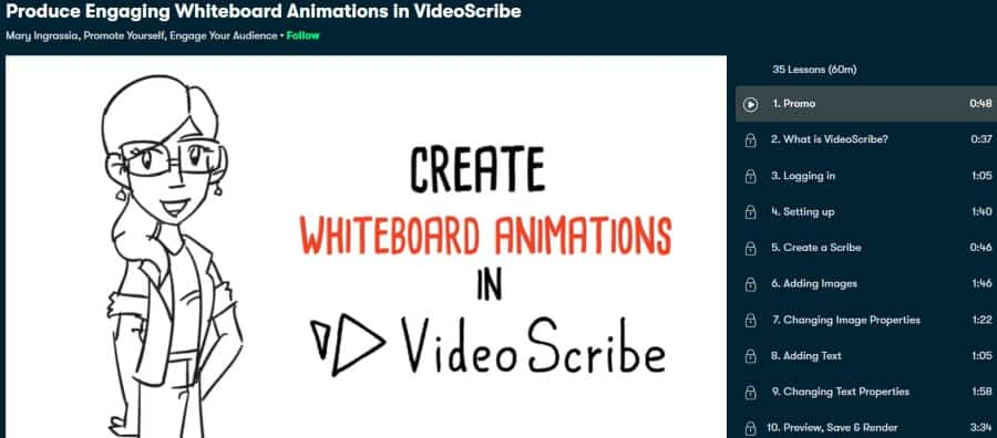 1. Produce Engaging Whiteboard Animations in VideoScribe (Skillshare)