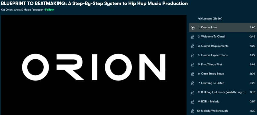 10. BLUEPRINT TO BEATMAKING A Step-By-Step System to Hip Hop Music Production (Skillshare)