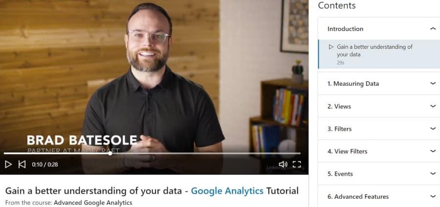 11. Advanced Google Analytics (LinkedIn Learning)