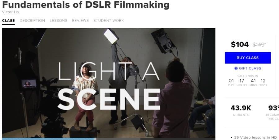 12. Fundamentals of DSLR Filmmaking (CreativeLive)