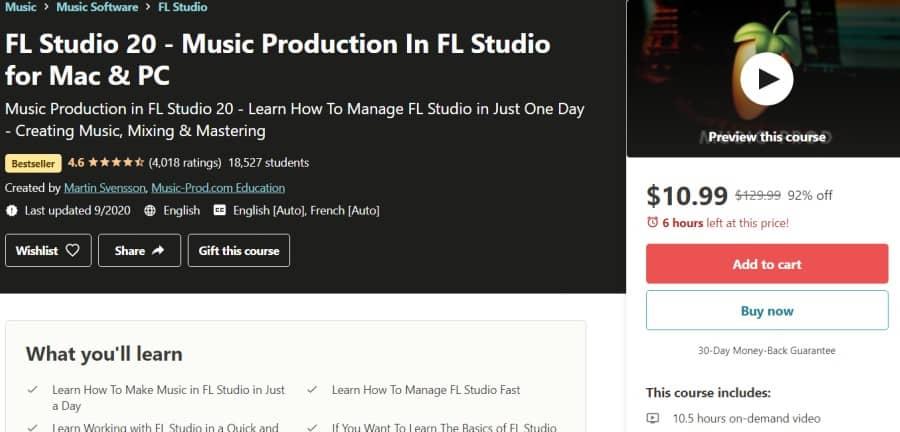 13. FL Studio 20 - Music Production In FL Studio for Mac & PC (Udemy)