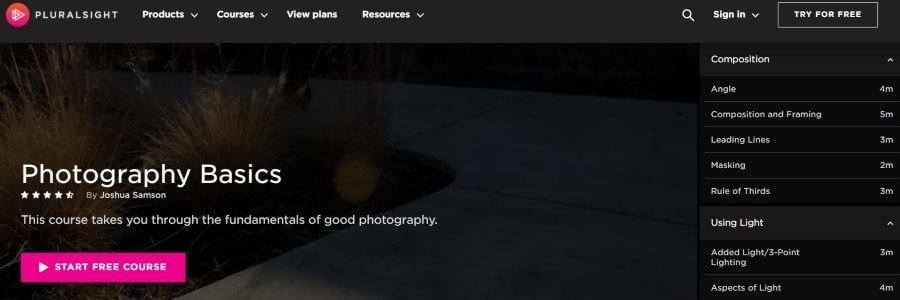 15. Photography Basics (Pluralsight)