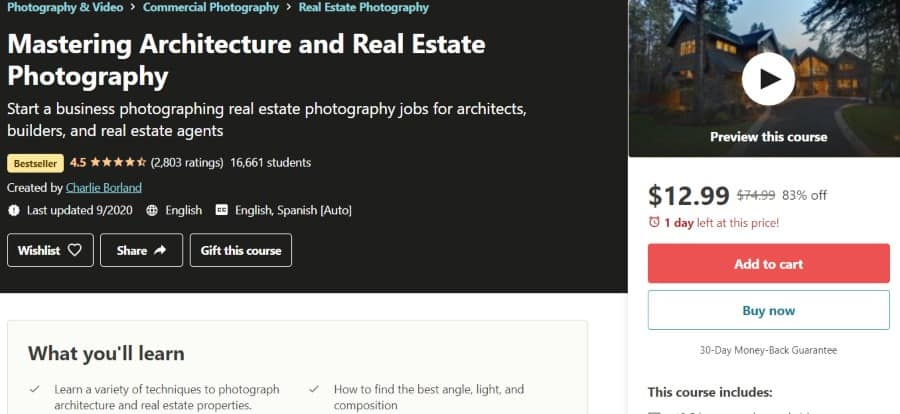 16. Mastering Architecture and Real Estate Photography (Udemy)