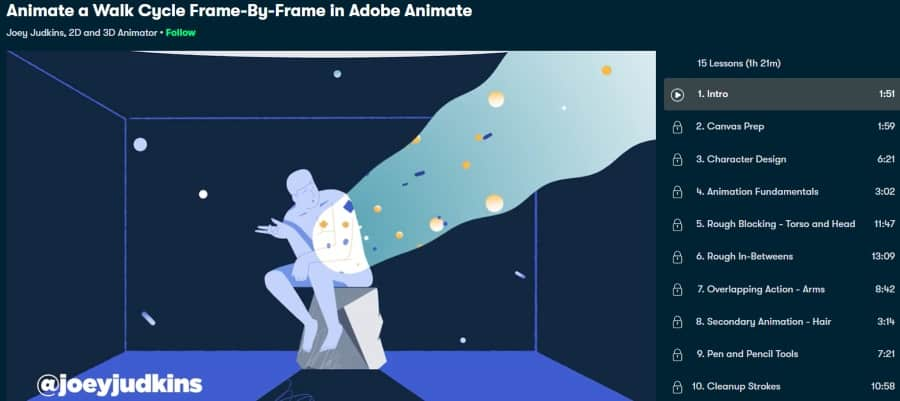 2. Animate a Walk Cycle Frame-By-Frame in Adobe Animate (Skillshare)
