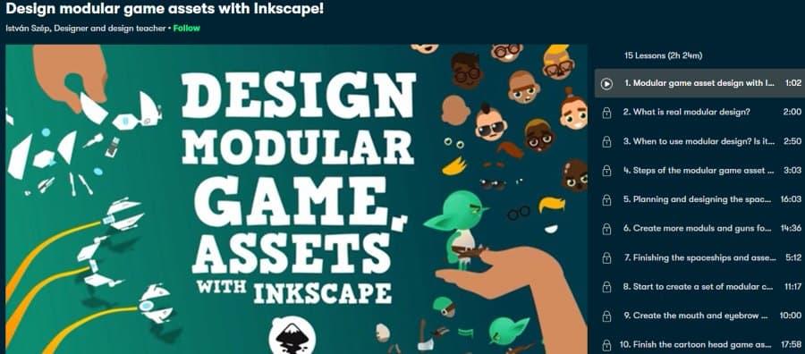 2. Design modular game assets with Inkscape! (Skillshare)