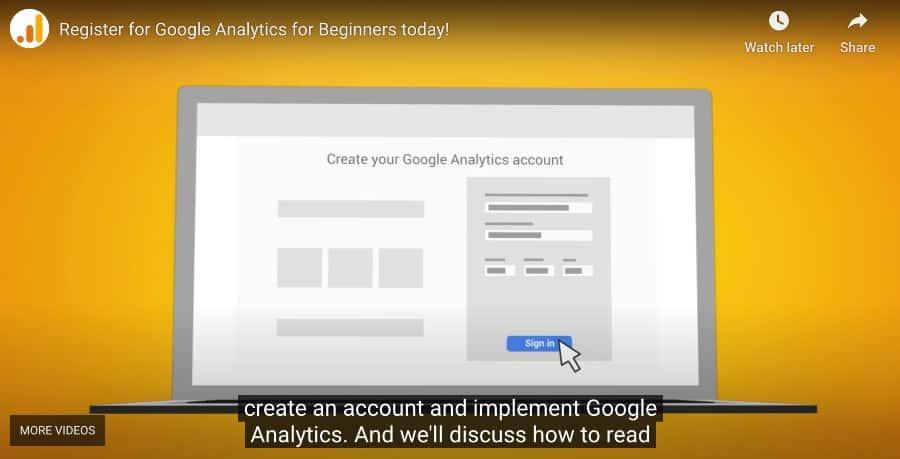2. Google Analytics for Beginners (Google Analytics Academy)