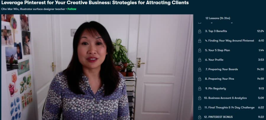 2. Leverage Pinterest for Your Creative Business Strategies for Attracting Clients (Skillshare)