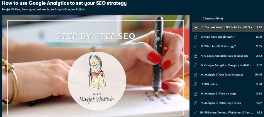 3. How to use Google Analytics to set your SEO strategy (Skillshare)