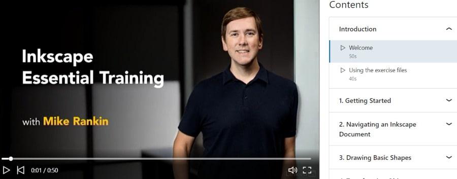 3. Inkscape Essential Training (LinkedIn Learning)