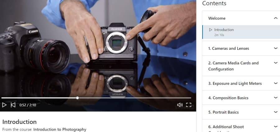 3. Introduction to Photography (LinkedIn Learning)